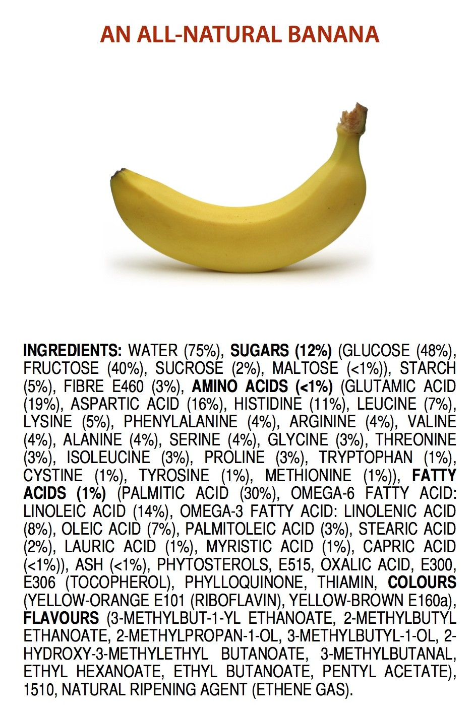 The ingredients of an all natural banana by James Kennedy