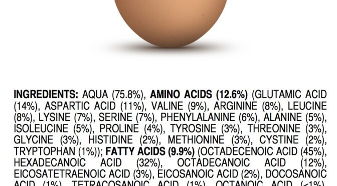 Ingredients of a an all natural egg by James Kennedy